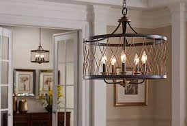 Kichler Dining Room Lighting Brookglen 5 Light Pendant In Black And Gold Tones