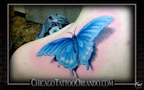 realistic butterfly tattoo image tattooshunt com