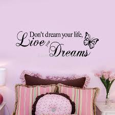 wall art stickers picture more detailed picture about don t dream your life live you dream den bedroom