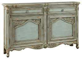 russelle carved door credenza distressed blue victorian