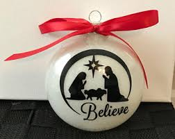 believe ornaments etsy