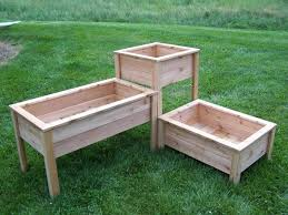 Varying Height Ve able Box Gardens