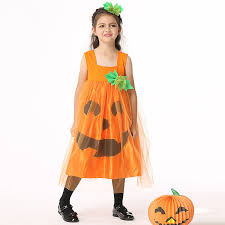 Girls Pumpkin Halloween Costume Buy Wholesale Pumpkin Halloween Costumes China Pumpkin