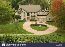 autumn house large house with 3 car garage and circular driveway