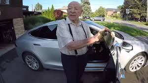tesla model s owner gets his 97 year old grandpa u0027s first