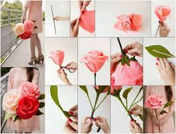 Making Flowers Out Of Tissue Paper For Kids - best 25 crepe paper roses ideas on pinterest crepe paper