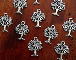 silver tree charms etsy