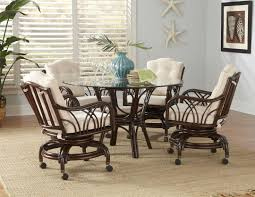 Natural Appeal Rattan Dining Chairs  RATTAN CREATIVITY AND HEADBOARD - Dining room chairs with rollers
