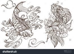 set outline black white illustrations sketches stock vector