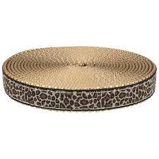 copper ribbon buy 3 4 inch leopard print ribbon on copper gold webbing