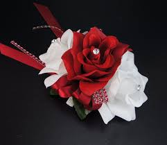 Corsages For Homecoming Amazon Com Wrist Corsage Red And White Roses Perfect From