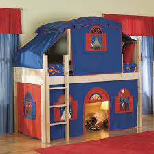 bolton cottage low loft bed with curtain