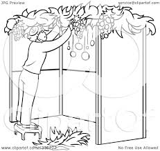 black and white sukkot clipart free black and white sukkot clipart