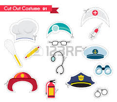 Photo Booth Accessories Costume Party And Photo Booth Props Profession Royalty Free