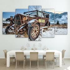 online get cheap car 5 piece canvas wall art aliexpress com