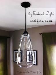 Diy Glass Pendant Light Diy Hanging Light Fixtures Best Ideas About Diy Pendant
