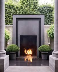 modern outdoor gas fireplace 11