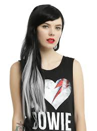 silver hair extensions silver fox clip in hair extension hot topic