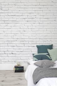 White Rose Bedroom Wallpaper This Whitewashed Brick Wallpaper Design Works So Well In The