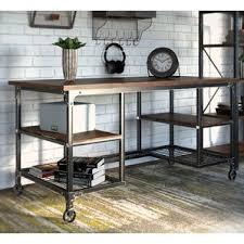Furniture Unpolished Oak Wood Computer Desk Placed On Light Gray by Solid Wood Writing Desks You U0027ll Love Wayfair