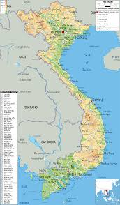 Physical Map Of South Asia physical map of vietnam ezilon map