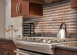 Kitchens With Backsplash Brown Metal Modern Kitchen Backsplash Tile Backsplash