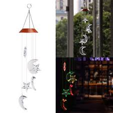 solar powered wind chime light hanging wind chimes led solar powered colour changing garden light