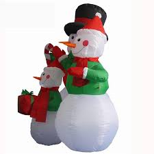 large outdoor christmas inflatable snowman decorations family led
