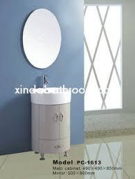 bathroom vanity cabinet with ceramic basin black tempered glass