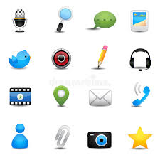 chat application and social media icons stock vector image 31021081