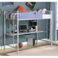 Loft Bed With Desk On Top Grey Bunk U0026 Loft Beds You U0027ll Love Wayfair