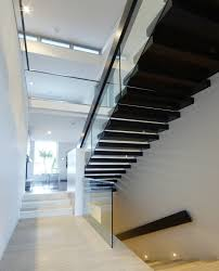 Glass Stair Handrail Glass Stair Railing Staircase Contemporary With Glass Railing