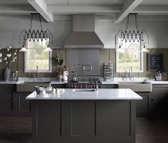 industrial kitchen cabinets with bar stools and counter large