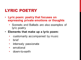 lyric poetry 12 cp english hack get out your lyric poem example