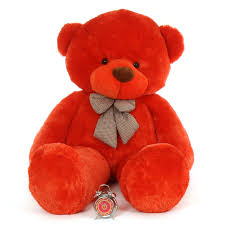 6ft life size teddy bear lovey cuddles has beautiful orange red fur