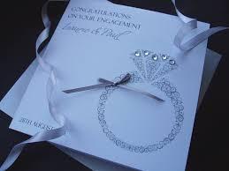Congratulations Engagement Card Handmade Engagement Card Ring Handmade Cards Pink U0026 Posh