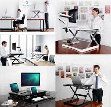 Sit Stand Desk Converter by Ergoneer Preassembled Sit Stand Elevating Computer Workstation