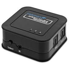 home theater with spdif input fosmon 3x1 spdif toslink optical digital audio switch 3 inputs 1