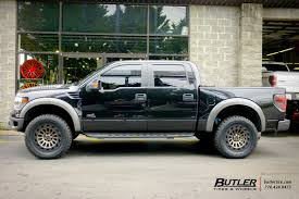 Ford Raptor Black - ford raptor with 20in black rhino madness wheels exclusively from