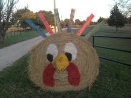 Outdoor Halloween Decorations With Hay by Turkey Hay Bale Outside Pinterest Hay Bales Thanksgiving