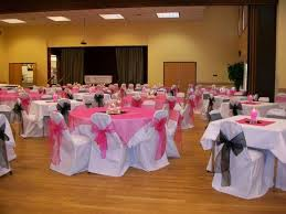 Pink Chair Covers White Banquet Chair Covers Black And Pink Organza Sashes With