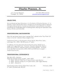 cover letter standard resume objective standard objective for