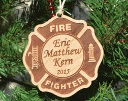 firefighter ornament etsy