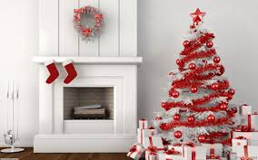 Christmas Tree Decorating Ideas Pictures 2011 Red And White Christmas Home Decoration Ideas Christmas Home Red