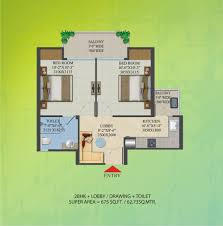 2bhk Plan by Migsun Roof Floor Plan Pradhan Mantri Awas Yojana