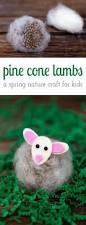 pine cone lambs a spring nature craft for kids