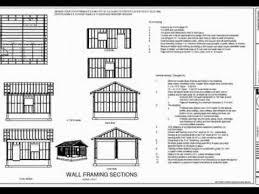 Garage Blueprints Free Garage Blueprints Plan G435 Garage 20 X 20 X 9 Youtube