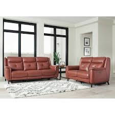 Sleek Recliner by Carmelo 2 Piece Top Grain Leather Power Reclining Set