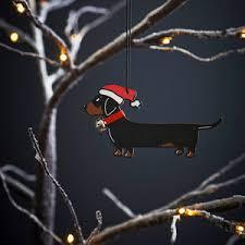 sausage dog christmas decorations