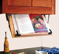 Under Cabinet Shelf Kitchen by Amazon Com Under Cabinet Mounted Cookbook Holder Wood Made In
